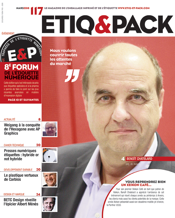 couverture magazine Etiq&pack avril 2018