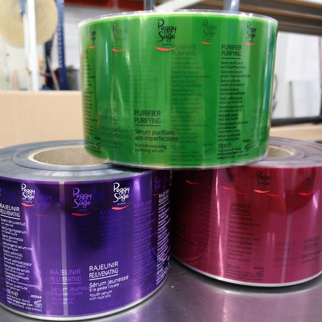 Etiquettes adhésives en rouleaux transparentes et colorées Yetiq.pro