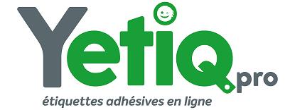 Le logo de notre actuelle solution d'impression d'étiquettes adhésives, Yetiq.pro