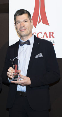 Remise de prix Oscar de l'Emballage Cédric Caboche
